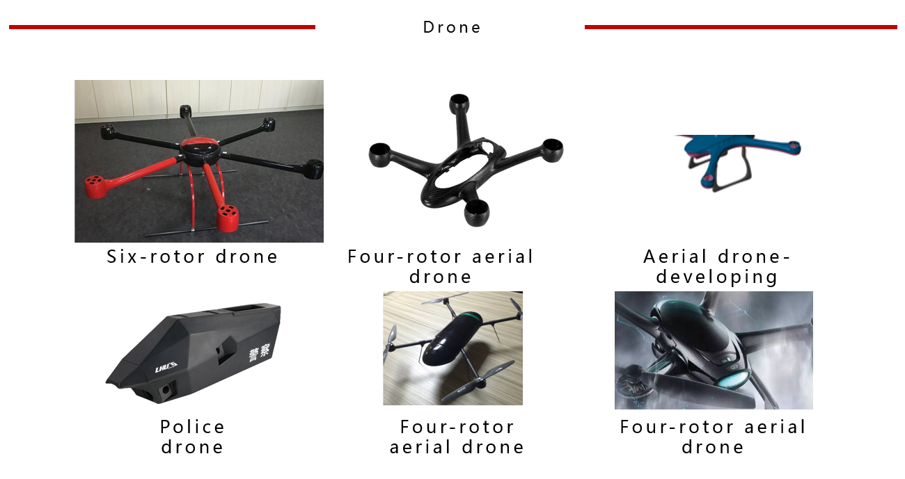 Carbon Fiber Multi-Axis UAV